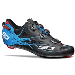 Sidi Shot Road Bike Shoe Matte Black/Light Blue