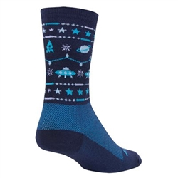 SockGuy Ugly Sweater Blue Wool Socks