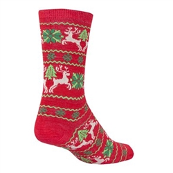 SockGuy Ugly Sweater Red Wool Socks