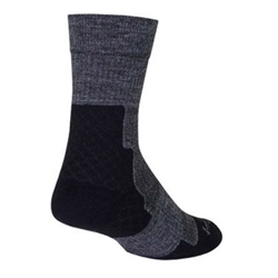 "SockGuy Trailhead Wool 7"" Sock Charcoal"