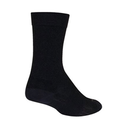 "SockGuy SGX Wool 6"" Bike Socks Black"