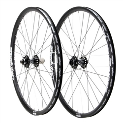 "Spank Spike Race28 DH 27.5"" wheelset, (F110/R135) black"