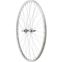 Sta-Tru 26 1 3/8 inch Silver 6/7 Speed Rear Wheel