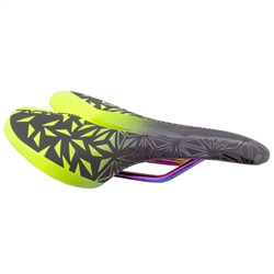 Supacaz Ignite Ti Neon Yellow Saddle