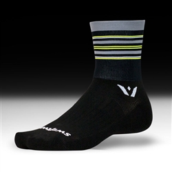 Swiftwick Aspire Four Black/Grey/Yellow
