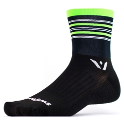 Swiftwick Aspire Four Black/Green/Gray