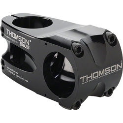 "Thomson Elite X4 Mountain Stem 0 degree 31.8 1-1/8"" Threadless Black"