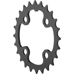 TruVativ/SRAM 24T x 64mm 9 Speed/ 2x10 Chainring Black Alloy