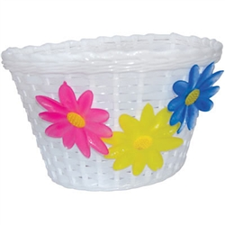 Ultra Cycle White Flower Basket