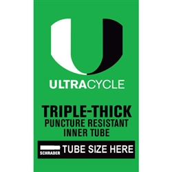 ULTRACYCLE Triple Thick Puncture Resistant Tube 26x1.5-1.75