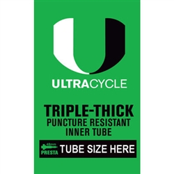 ULTRACYCLE Triple Thick Puncture Resistant Tube 26x1.5-2.125 Presta