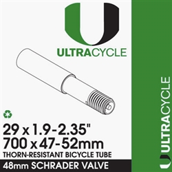 UltraCycle 29X1.9-2.35 Thorn Resistant Tube Schrader 48mm Stem