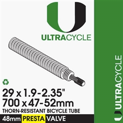 Ultra Cycle 29'' x 1.9-2.35'' Thorn Resistant Presta Valve Tube