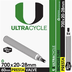 UltraCycle 700x20-28mm 60mm Presta Valve Tube