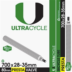 Ultracycle 700c x 28-35 Tube 80mm Presta Valve