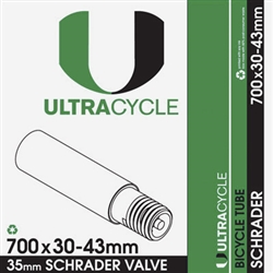 Ultracycle 700c x 30-34mm Schrader Valve Tube