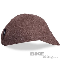 Walz Brown Tweed Wool Cycling Cap