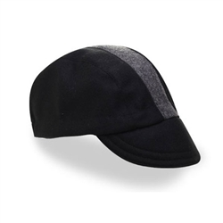 Walz Wool Cycling Cap Black/Grey Stripe