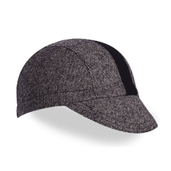 Walz Wool Cycling Cap Black Tweed/Black Stripe