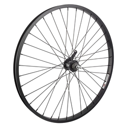 "Wheel Master 26"" Alloy Cruiser/Comfort Coaster Brake Rear Wheel - All Black"