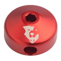 Wolf Tooth Components Lo-Pro shock rebound knob, red