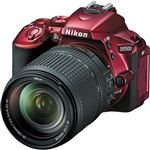 Nikon D5500 DSLR Camera with 18-140mm Lens (Red)