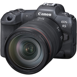 Canon EOS R5 Mirrorless Digital Camera with 24-105mm f4L Lens