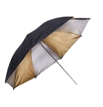 UMBRELLA 45in PROF BLK/GOLD/SLV