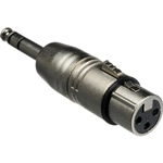 "Hosa Technology GXP143 Stereo Male 1/4"" Phone to Female 3-Pin XLR Adapter"