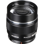 M.Zuiko 75mm f1.8 lens (black)