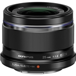 Olympus M.Zuiko Digital 25mm f/1.8 Lens (Black)