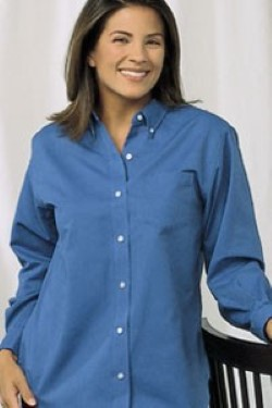Van Heusen Ladies Long Sleeve Oxford Blouse 13V0002. Embroidery available. Quantity Discounts. Same Day Shipping available on Blanks. No Minimum Purchase Required.