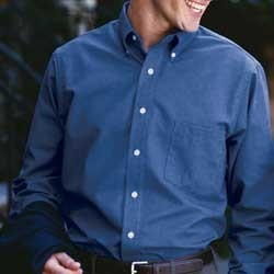 Van Heusen Mens Long Sleeve Wrinkle-Resistant Blended Pinpoint Oxford 13V0031. Embroidery available. Quantity Discounts. Same Day Shipping available on Blanks. No Minimum Purchase Required.