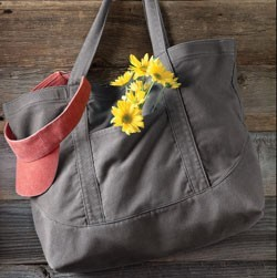 Authentic Pigment 1904 14 oz. Pigment-Dyed Large Canvas Tote