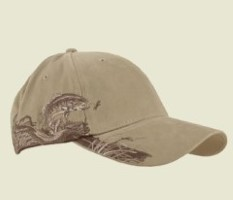 Dri Duck TROUT Wildlife Caps 3256. Embroidery available. Quantity Discounts. Same Day Shipping available on Blanks. No Minimum Purchase Required.