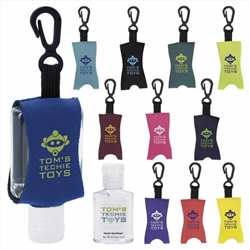 Hand Sanitizer with Leash .5 oz. Custom Label