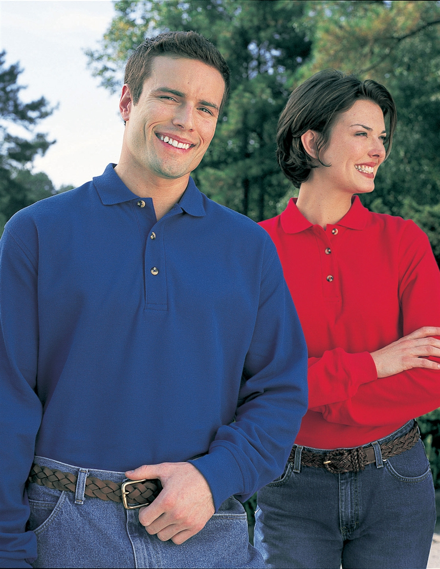 Tri Mountain 608 Mens Champion Long Sleeve Polo Shirts Up To 25