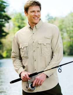 Tri-Mountain 705 Marlin Mens Nylon Long Sleeve Camp Shirts with UPF Protection/Ventilation. Up to 25% Off. Free Shipping available.