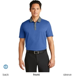 Nike Golf 779798 Dri-FIT Heather Pique Modern Fit Polo Shirts