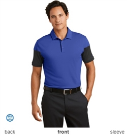 Nike Golf 779802 Dri-FIT Sleeve Colorblock Polo Shirts