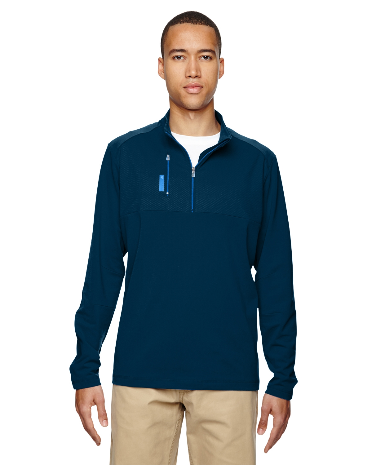 adidas quarter zip. adidas golf a195 puremotion mixed media quarter-zip quarter zip