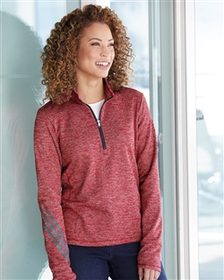 Adidas Golf A285 womens Brushed Terry Heathered Quarter-Zip Pullover
