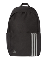 Adidas 18L 3-Stripes Backpacks A301. Embroidery available. Same Day Shipping available on blanks. Quantity Discounts. No Minimum Purchase Required.