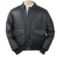 Burk's Bay A-1 Leather Bomber Full-Zip Jacket 1080