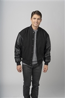 Burk's Bay Wool Leather Varsity Jacket 5000