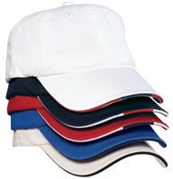 Port Authority C830 Sandwich Bill Cap with Striped Closure