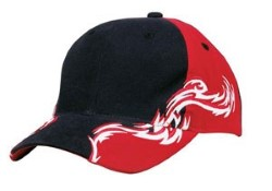 Port Authority Red and White Flames Racing Caps C859. Embroidery available. Fast shipping on blanks. Volume Discounts. No minimum purchase.