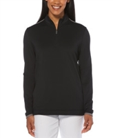 Callaway CGW509 Ladies 1/4 Zip Mock Pullovers