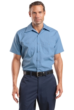 Red Kap CS20 Short Sleeve Striped Industrial Work Shirts