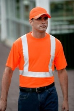 CornerStone by Port Authority ANSI Compliant Safety T-Shirts CS401. Embroidery available. Same Day Shipping available on blanks. Quantity Discounts. No Minimum Purchase Required.